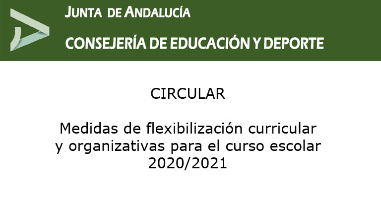 Lee más sobre el artículo Medidas de flexibilización curricular y organizativas para el curso escolar 2020/2021