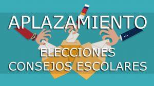 Aplazamiento de las elecciones para la renovación de los Consejos Escolares