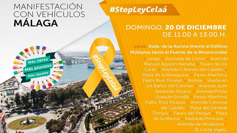 La Marea Naranja por la Educación vuelve a Málaga el domingo 20 de diciembre