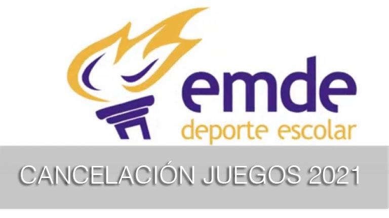 Se cancela la convocatoria de los Juegos Nacionales Escolares EMDE 2021