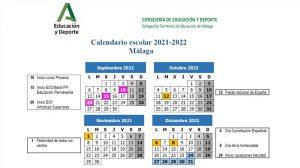 Ya conocemos el Calendario Escolar del próximo Curso 2021/2022 en Málaga